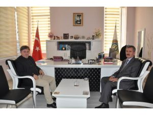 Tapu Müdürü Ali Aydın'dan Veda Ziyareti