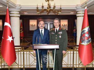 Sağlık Bakanı'ndan Genelkurmay Başkanı Hulusi Akar'a ziyaret