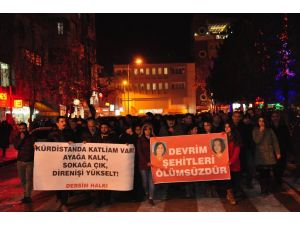 Tunceli'de sokağa çıkma yasağı protestosu