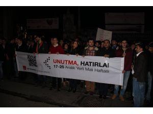 CHP İstanbul İl Gençlik Örgütü'nden 17-25 Aralık eylemi