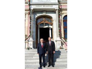 Vali Şahin'den Başkan Gürkan'a Veda Ziyareti