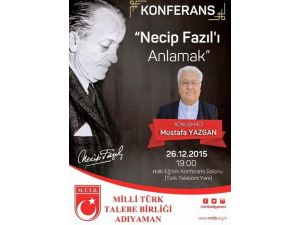 Yazar Mustafa Yazgan Adıyaman'da Konferans Verecek