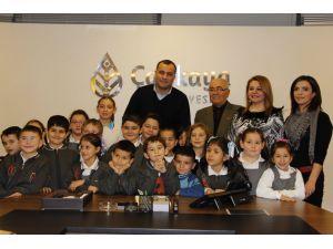 Çankaya Belediyesi'ne öğrencilerden teşekkür ziyareti