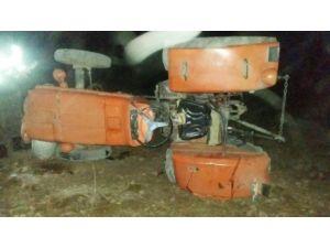 Traktör Tarlaya Uçtu, 1 Yaralı