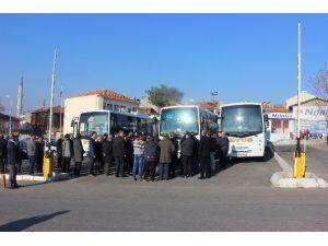 Edirne'de Toplu Ulaşım Araçlarına Dezenfekte