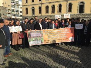 ODTÜ'de Namaz Kılan Öğrencilere Yönelik Saldırı Trabzon'da Protesto Edildi