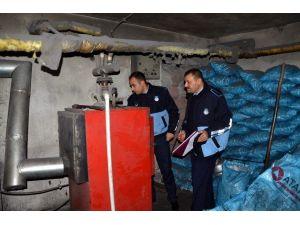 Gülşehir Belediyesi Kalorifer Denetlemelerinde Bulunuyor