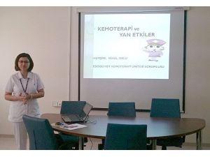ESOGÜ Hastanesi'nde Kemoterapi Ve Yan Etkilerine Yönelik Eğitim