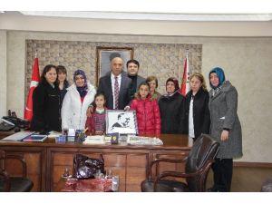 Öğrencilerden Emniyet Müdürü Şahne'ye Ziyaret
