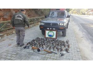 Milli Park'ta Kaçak Avcılık Yapan 2 Kişi Yakalandı