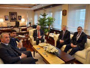 Kars, Ardahan Ve Iğdır Milletvekillerinden Bakan Yıldırım'a Ziyaret
