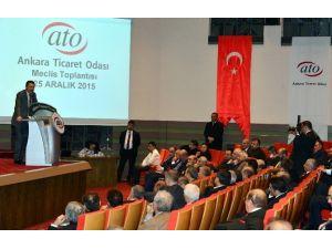 Başkan Gökçek, Yanan Osmanlı Pazarı İçin ATO'da