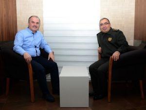 Jandarma Komutanı Yıldız'dan Başkan Gürlesin'e Ziyaret
