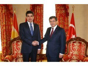 Davutoğlu Barzani İle Görüştü