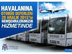 Havaalanına Otobüs Seferleri Başlıyor