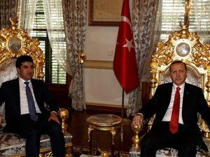 Erdoğan, Neçirvan Barzani ile terörle mücadeleyi konuştu