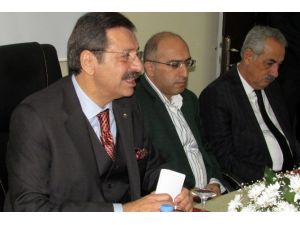 TOBB Başkanı Hisarcıklıoğlu İslahiye'yi Ziyaret Etti