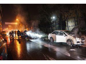 Zeytinburnu ve Şişli'de 13 araç kundaklandı