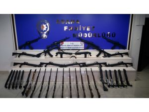 Adana 39 adet ruhsatsız av tüfeği ele geçirildi