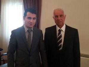 Gençlik Ve Spor Konfederasyonu Derviş Eroğlu'nu Ziyaret Etti