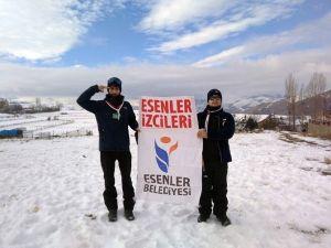 Esenlerli İzciler, Allahuekber Dağı'nda Sarıkamış Şehitlerini Andı