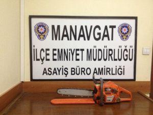 Manavgat'ta Hırsızlık Şüphelisi 2 Şahıs Polisten Kaçamadı
