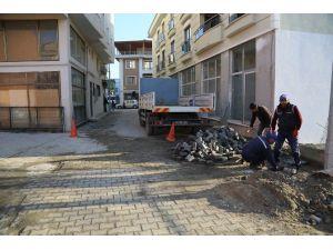 Sapanca Belediyesi Çarşı İçi Cadde Ve Sokakları Elden Geçiriyor