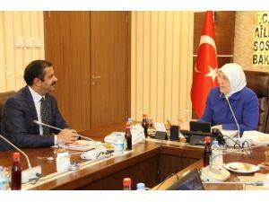 Sağlık-sen'den ASP Bakanı Sema Ramazanoğlu'na Ziyaret