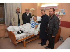 Başkan Karabacak Tan Geçmiş Olsun Ziyareti