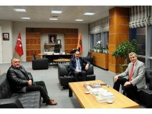 DOKAP Başkanı Yüce'den Rektör Şimşek'e Ziyaret