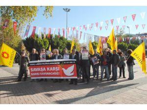 Eğitim Sen'den 'Savaşa karşı barışın tarafındayız' eylemi