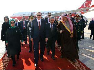 Cumhurbaşkanı Erdoğan, Suudi Arabistan'da