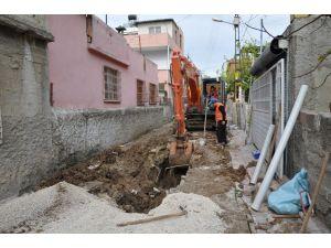 Kışla Mahallesi'nde kanalizasyon çalışması