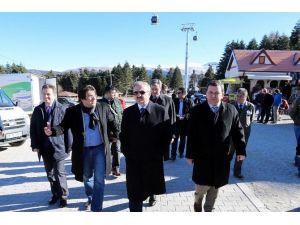 Bursa Valisi Münir Karaloğlu, Uludağ'da İncelemelerde Bulundu