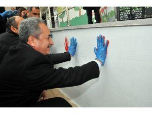 Süleyman Şah İlkokulu İlçe Protokolünün Elleriyle Renklendi