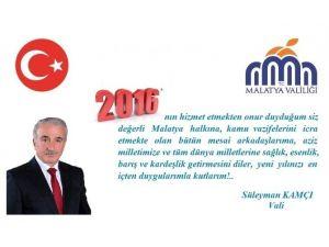 Vali Kamçı'nın Yeni Yıl Kutlama Mesajı