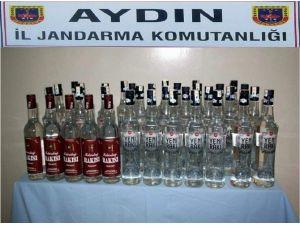 Yılbaşı İçin Hazırlanan Sahte İçkiler Jandarmaya Takıldı
