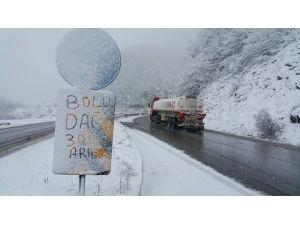 Bolu Dağı'nda Kar Başladı