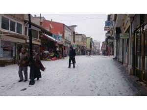 Develi'de Kar Yağışı Sevinci