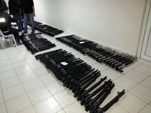 Polis, ruhsatsız 591 pompalı tüfek ele geçirdi
