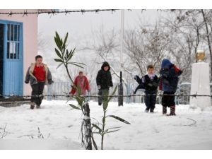 Kar Yağışı En Çok Minikleri Sevindirdi