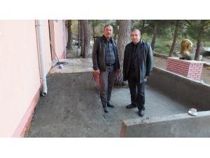 Burhaniye'de Okullara Engelli Rampası