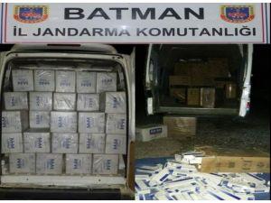 Batman'da 27 Bin 490 Paket Kaçak Sigara Ele Geçirildi