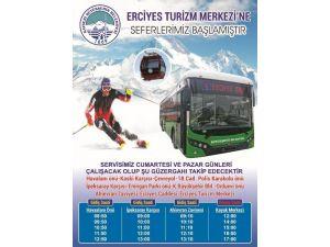 Erciyes'e Otobüs Seferleri Başladı