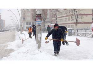 Ağrı'da yoğun kar yağışı