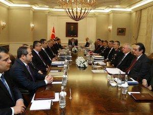 Başbakanlıkta güvenlik toplantısı