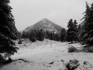 Amanoslar Yeni Yılı Karla Karşıladı