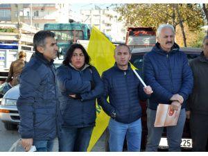 Eğitim Sen üyeleri, hukuksuz sürgünü protesto etti