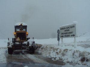 İnegöl'de Kar Alarmı