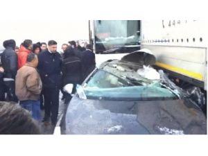 Bursa'da Kar Sebebiyle Zincirleme Kaza